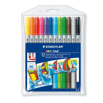 Двувърхи флумастри Staedtler Noris Club 320, 12 цвята