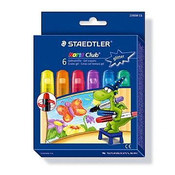 Пастели Staedtler Noris Club Gel, 6 цвята