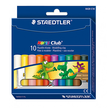 Пластилин Staedtler Noris Club, 10 цвята