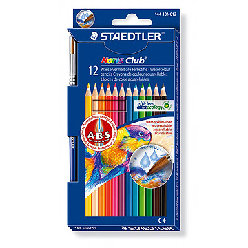 Водоразтворими моливи Staedtler Noris Club 144 10, 12 цвята