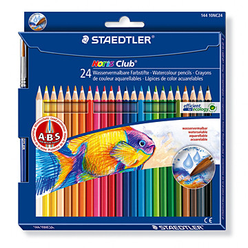 Водоразтворими моливи Staedtler Noris Club 144 10, 24 цвята